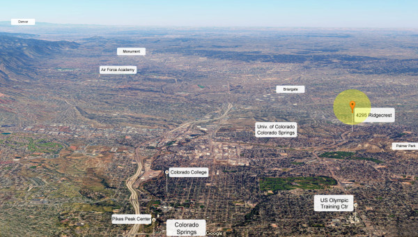 Google Earth Ridgecrest View to North and Air Force Academy