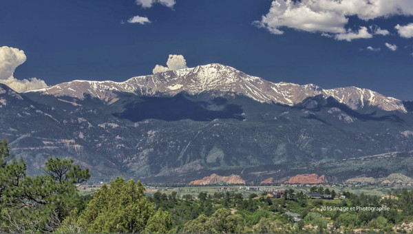 Pikes Peak View from Ridgecreset Dr. Photo credits jmcclintockphotography.com