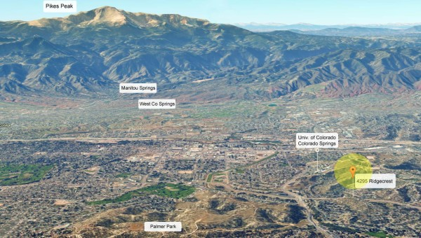 Google Earth Ridgecrest to Pikes Peak